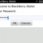 BlackBerry Wallet password