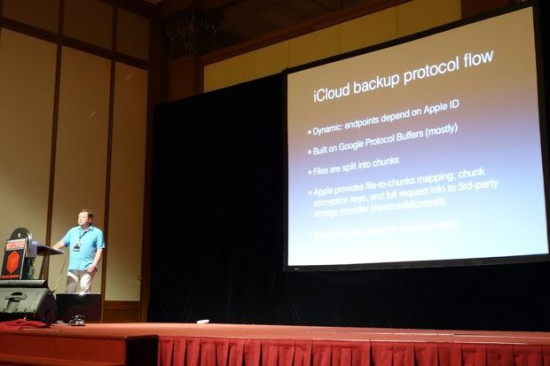 Vladimir Katalov's talk at HITB (Image from Violet Blue/ZDNet)