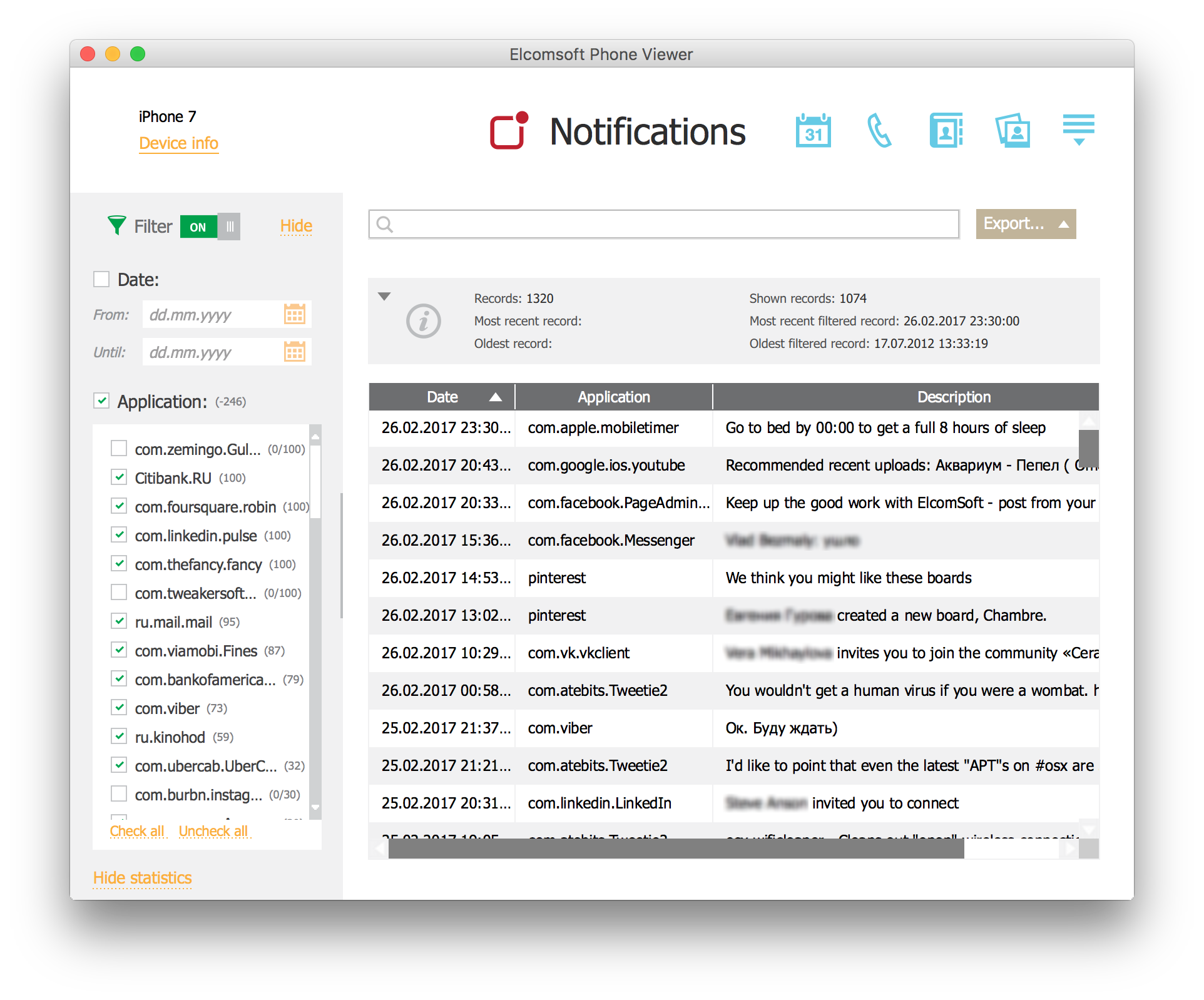 Extracting Unread Notifications from iOS Backups | ElcomSoft blog