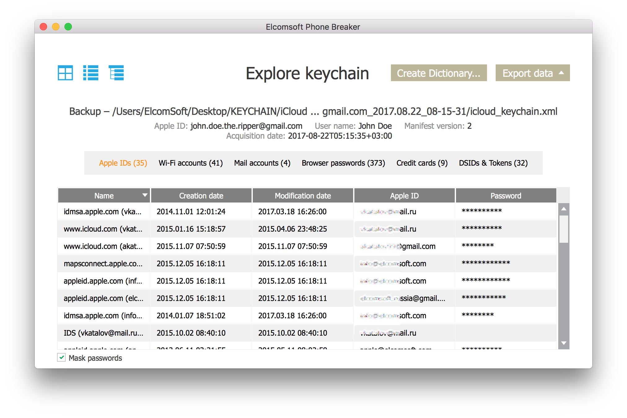 No 2FA and no iCloud Security Code  the keychain is NOT stored in the  cloud  direct synchronization across ... a82703df52