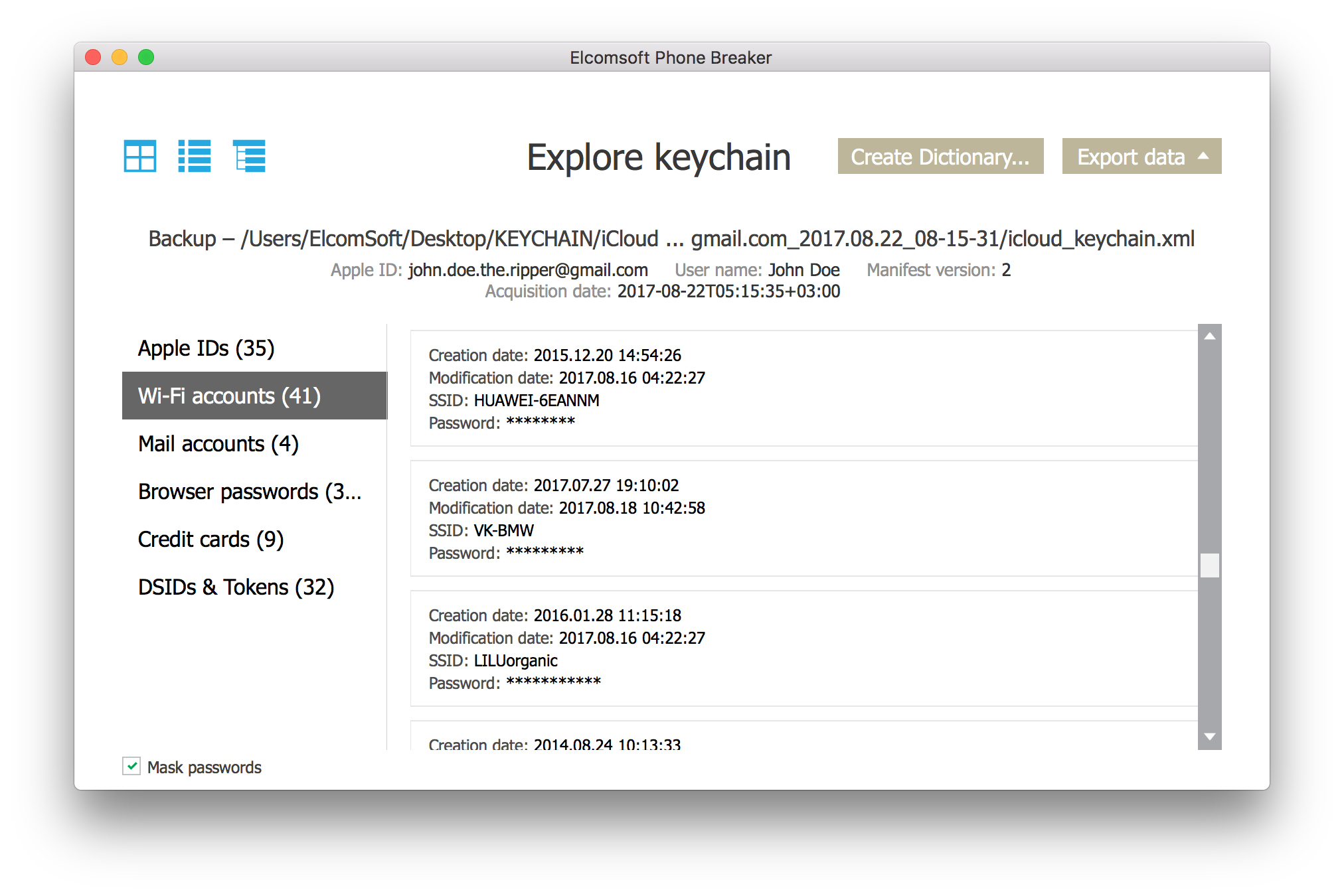 Sign in with an Apple ID and password  Supply iCloud Security Code 6a5347ae88