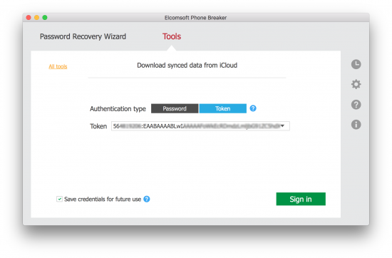 Extracting and Using iCloud Authentication Tokens