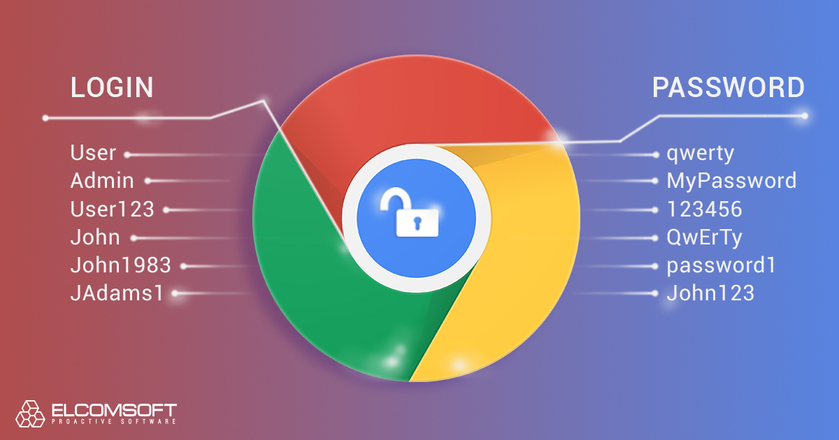 Extracting and Making Use of Chrome Passwords   ElcomSoft blog