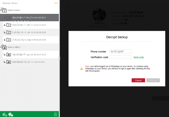 Extract and Decrypt Android WhatsApp Backups from Google Account