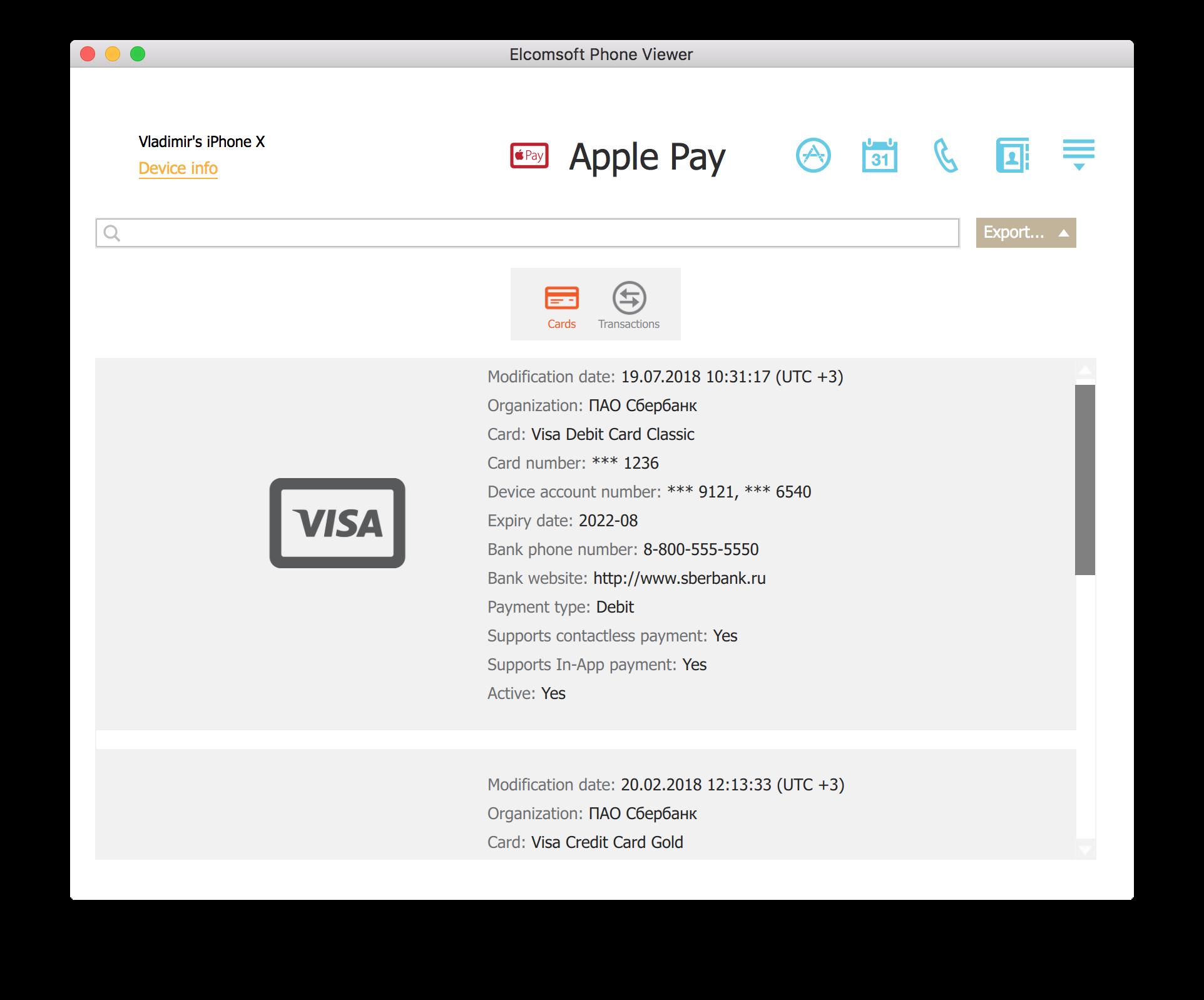 Analysing Apple Pay Transactions | ElcomSoft blog