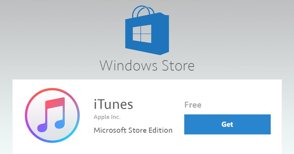 Apple iTunes: Standalone vs  Microsoft Store Edition