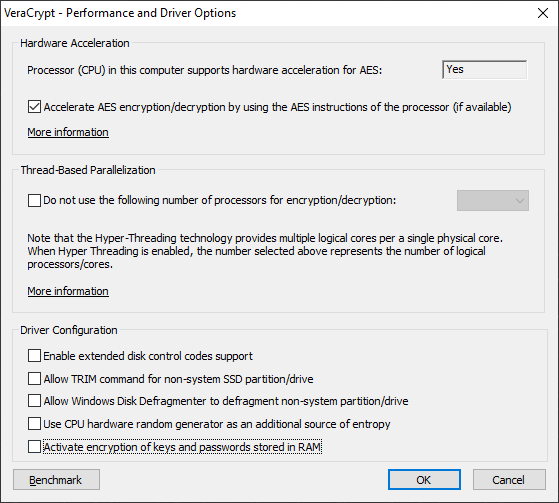 umair-akbar-vc options2 - Breaking VeraCrypt: Obtaining and Extracting On-The-Fly Encryption Keys